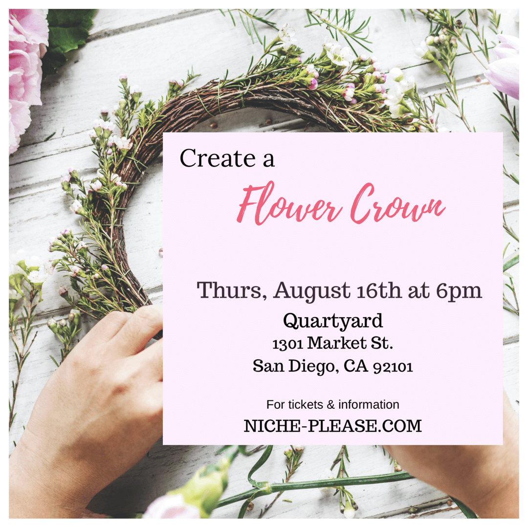 Niche Please Flower Crown Workshop Quartyard